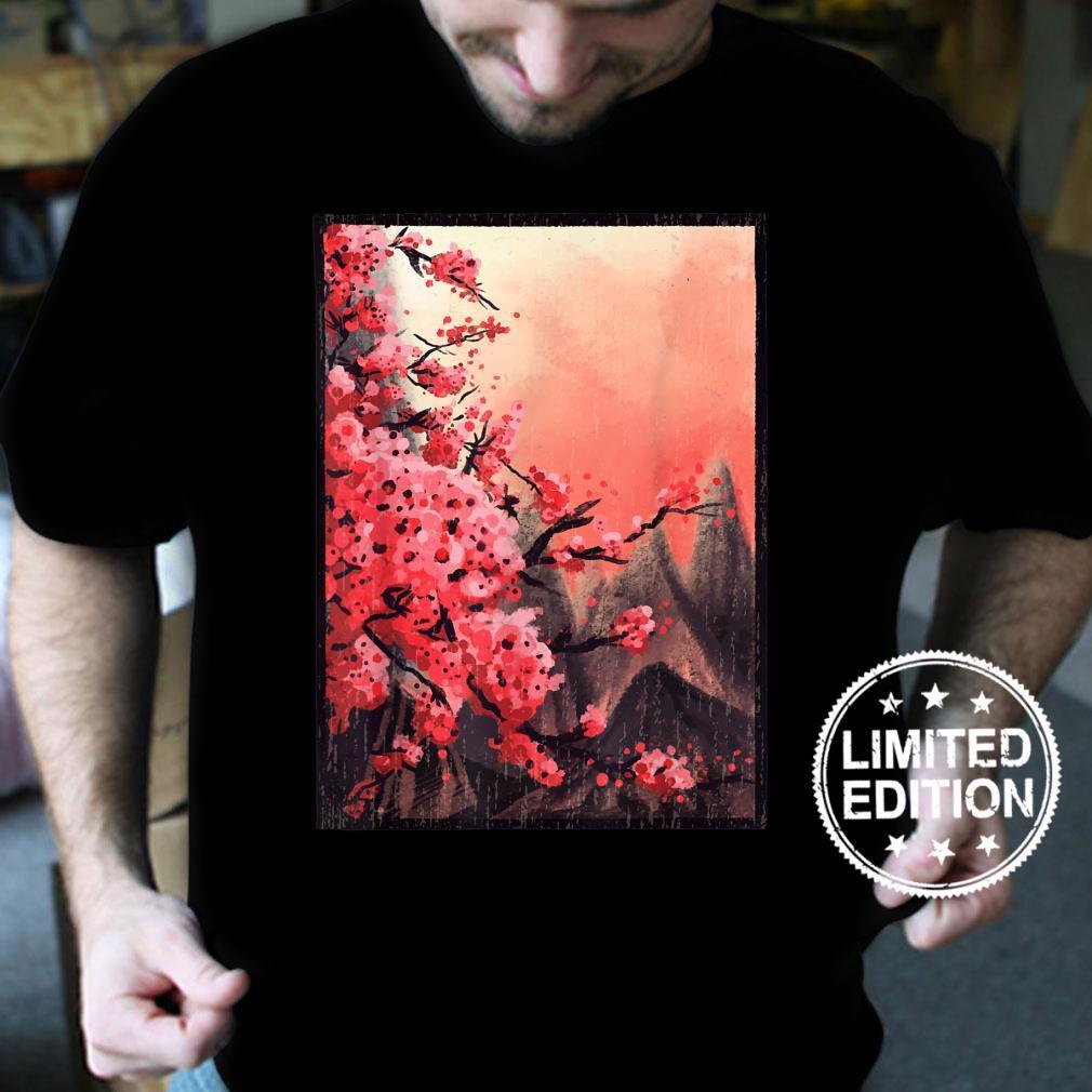 Aesthetic Japanese Blossom Vintage Cherry Flower Shirt