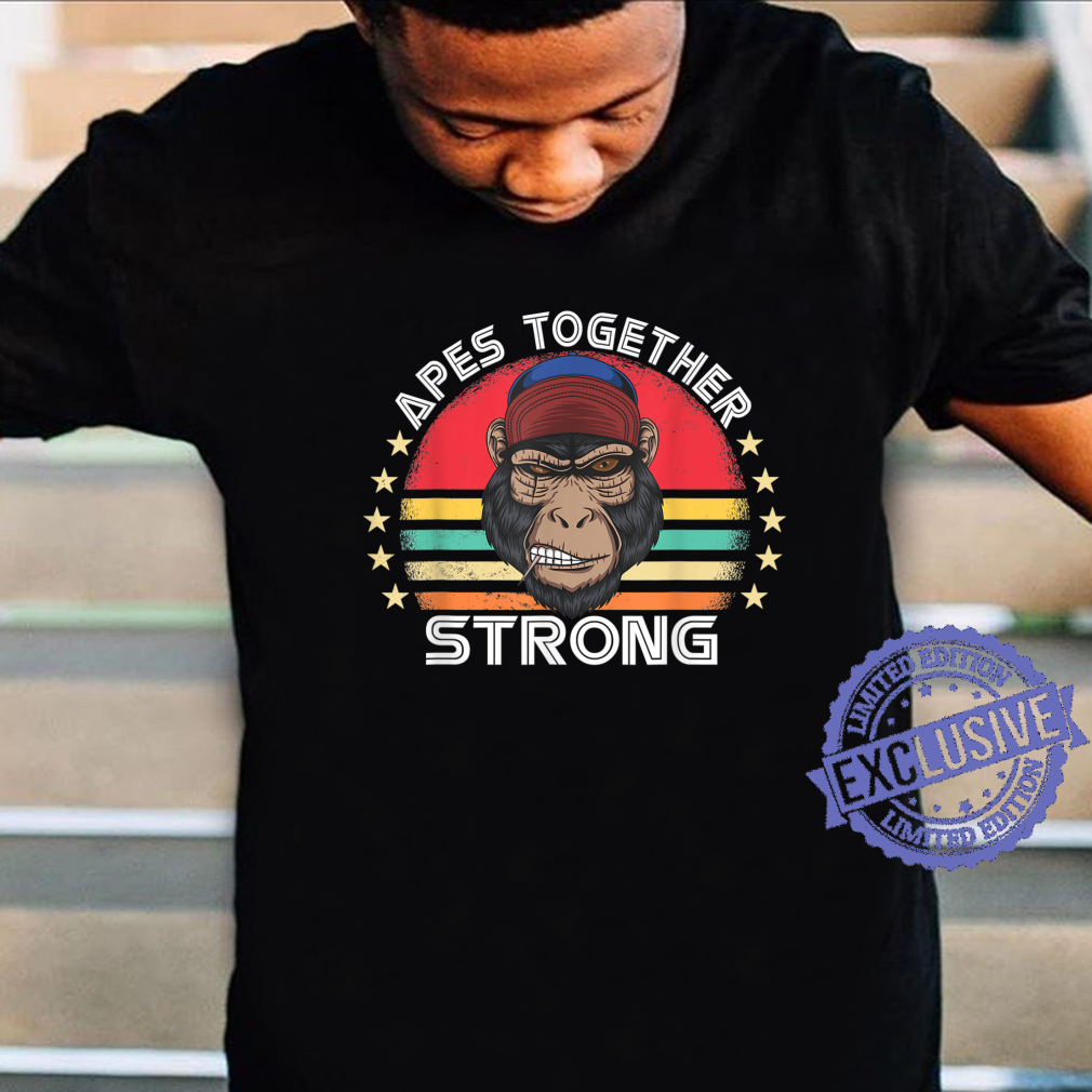 Apes Strong Together Ape Retro Vintage Sunset GME strength Shirt