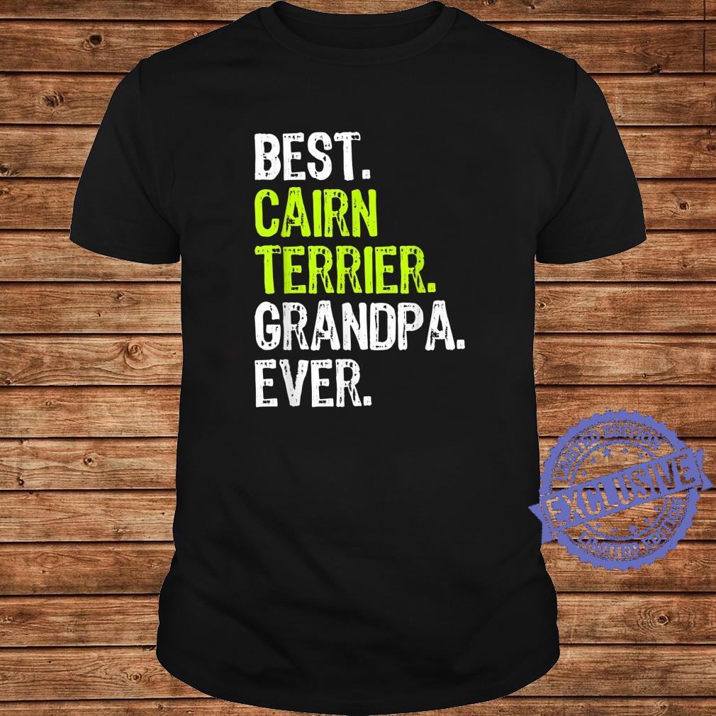Best Cairn Terrier Grandpa Ever Dog Shirt long sleeved