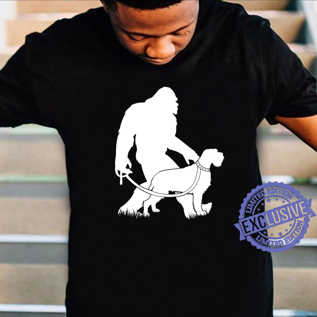 Bigfoot Walking Wirehaired Pointing Griffon Dog Owner Shirt