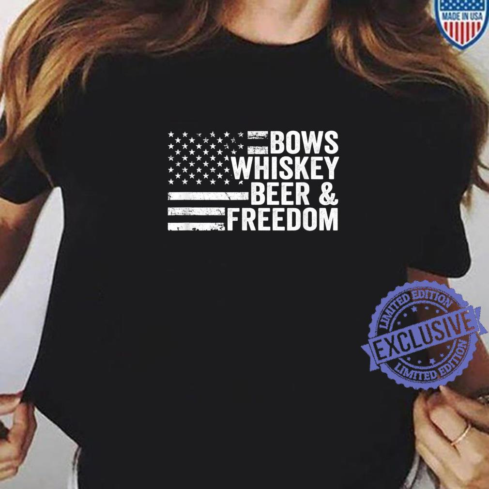 Bows Whiskey Beer And Freedom Bow Hunting Archery Shirt ladies tee