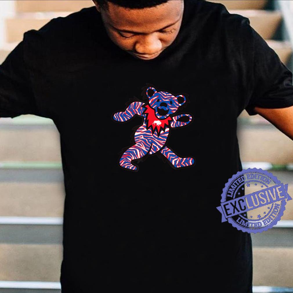 Buffalo NY crazy striped dancing football fan bear 716 BFLO Shirt