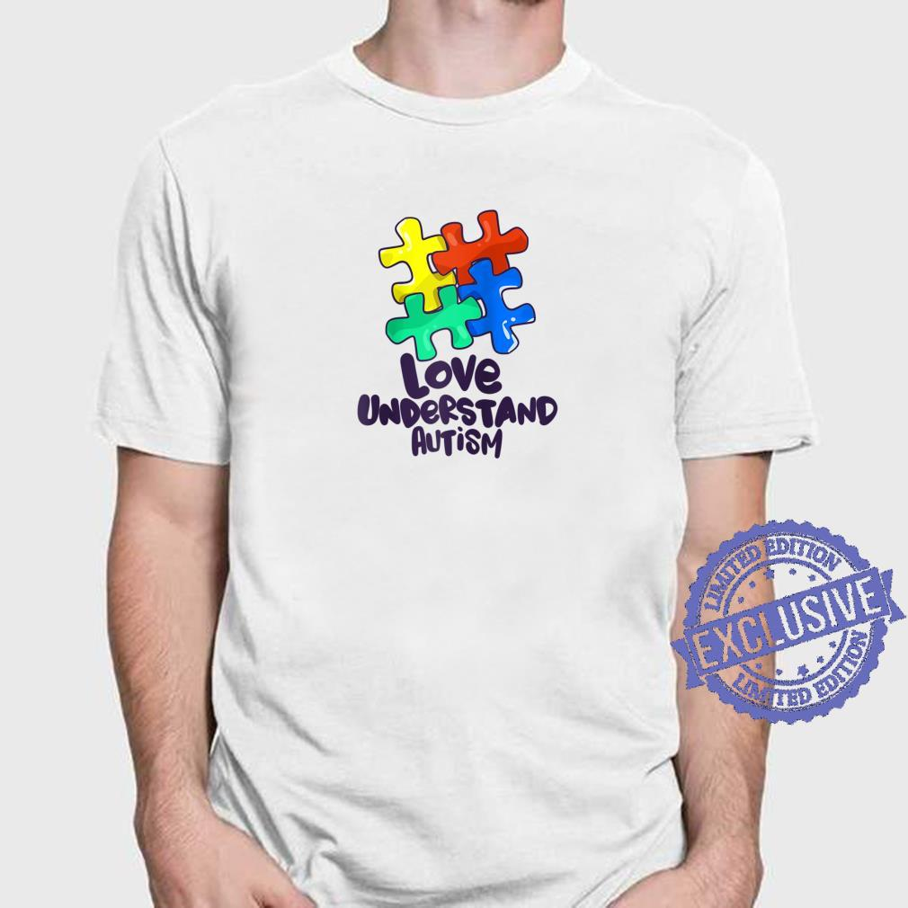 Colorful Puzzle Love Understand Autism Awareness Advocacy Shirt