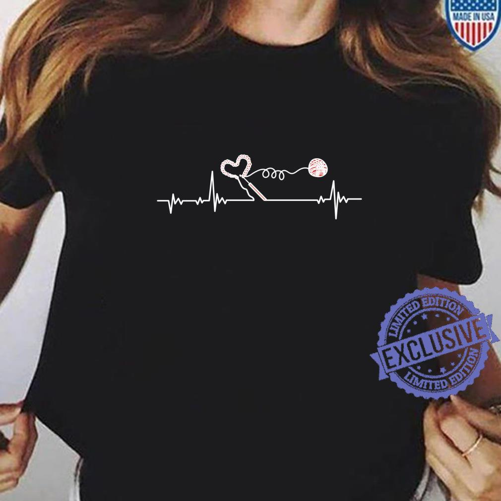 Crochet Crocheter Heartbeat Pulseline Crocheting Shirt ladies tee