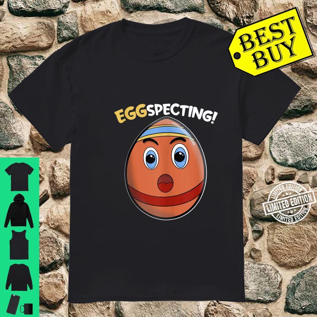 Easter Pregnant Announcement Eggspecting Pregnancy Reveal Shirt