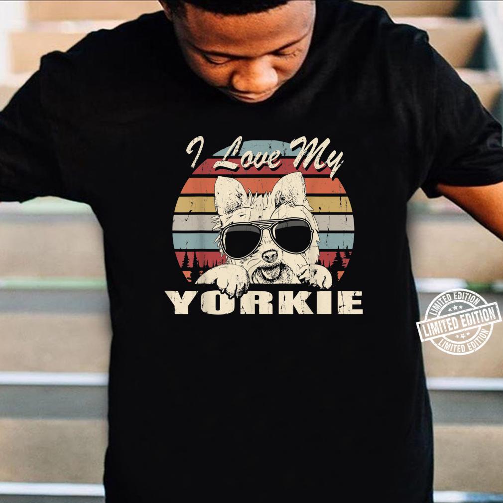 I Love My Yorkie Vintage Retro Design Shirt