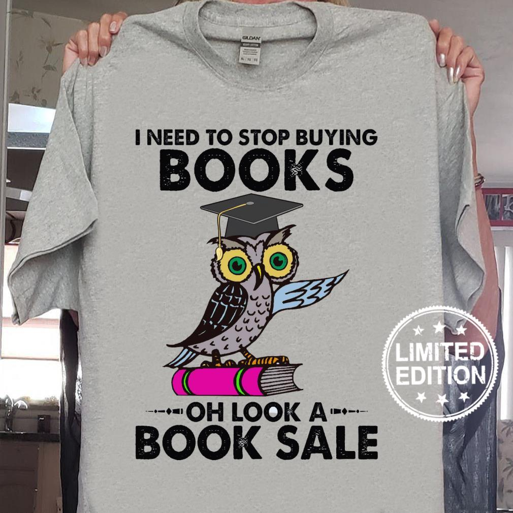 I need to stop buying books oh look a book sale shirt sweater