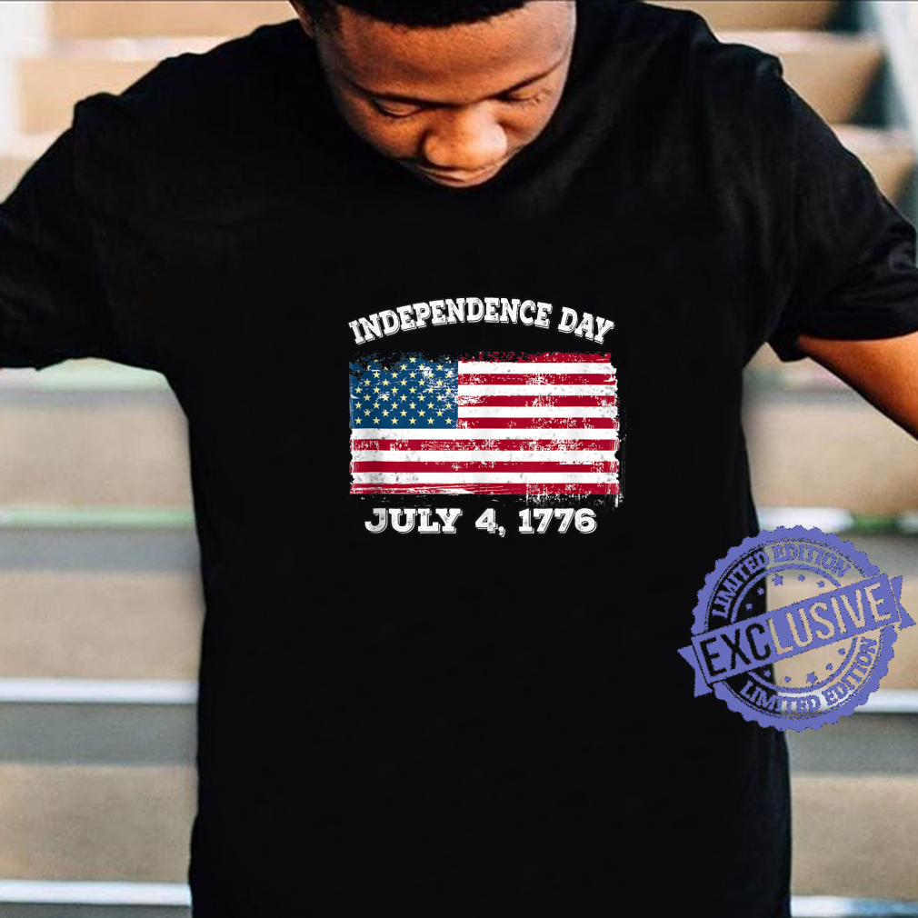 Independence Day July 4 1776 Fourth of July American Flag Shirt