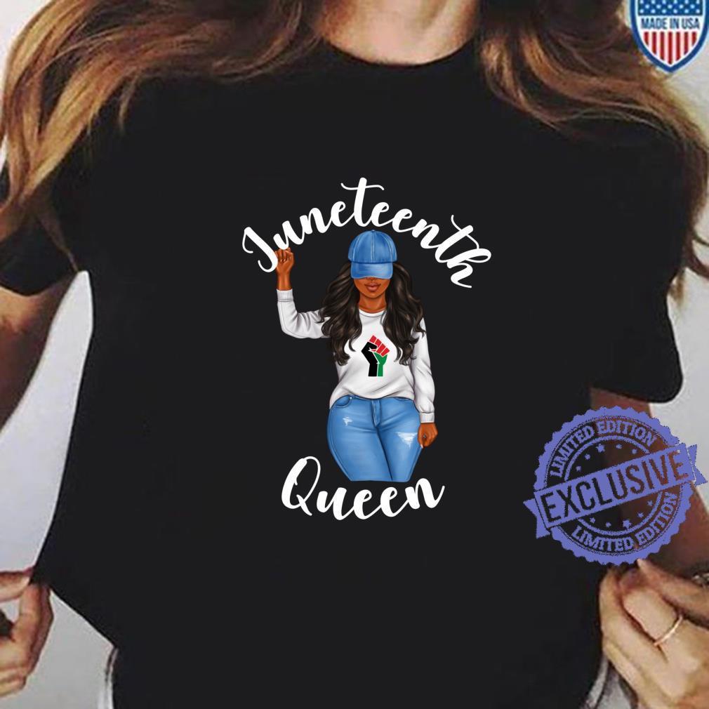 Juneteenth Queen African American Black Girl Power Shirt ladies tee