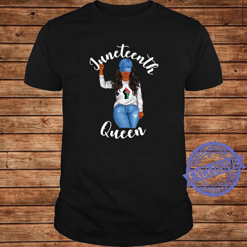 Juneteenth Queen African American Black Girl Power Shirt long sleeved