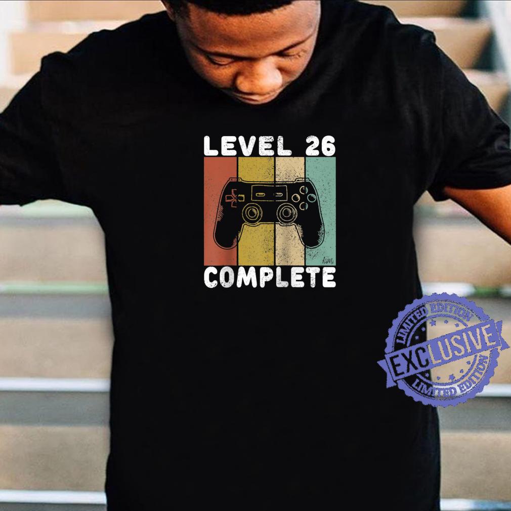 Mens 26th Birthday Shirt Gaming Shirt Level 26 Complete Shirt