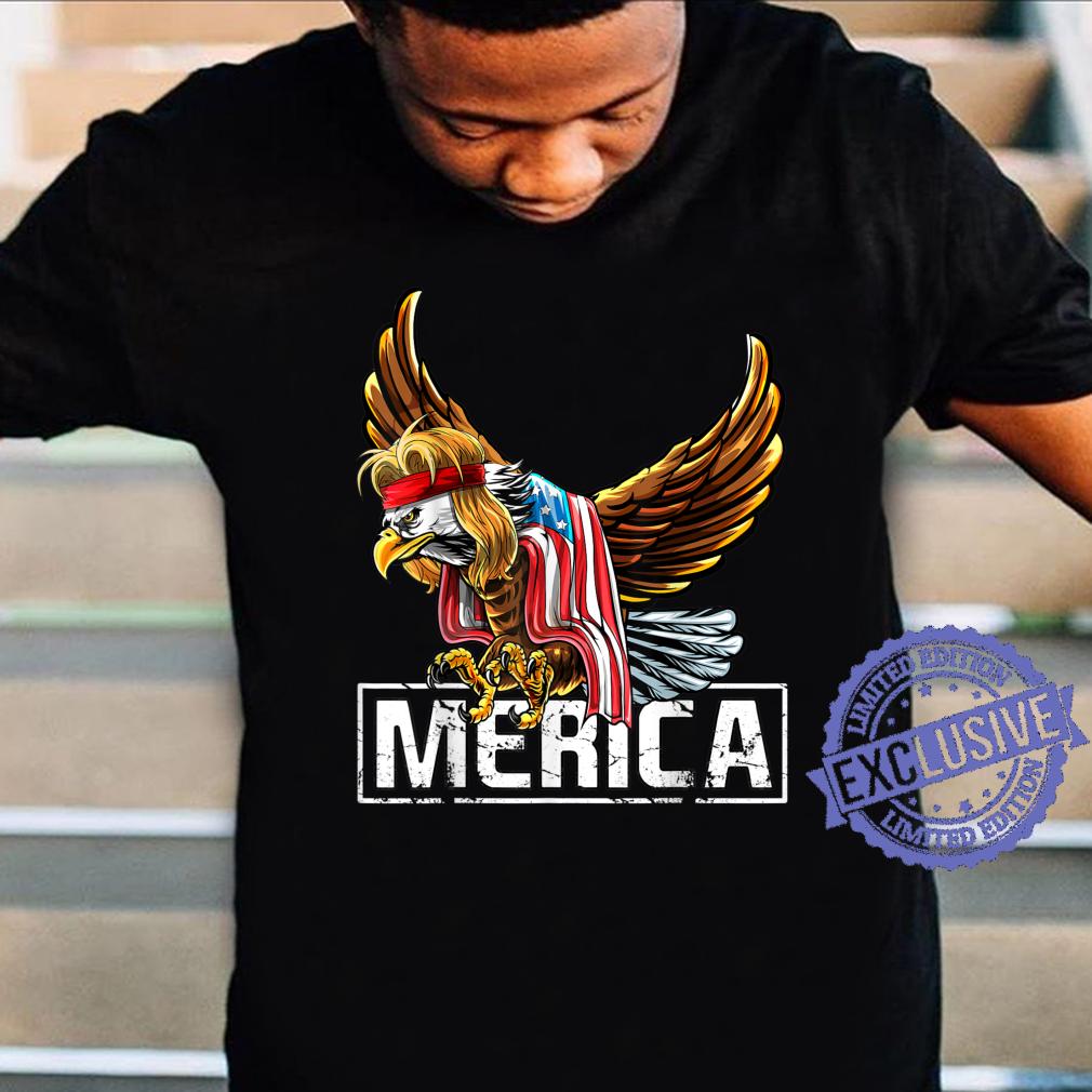 Merica Bald Eagle Mullet 4th of July American Flag Patriotic Shirt