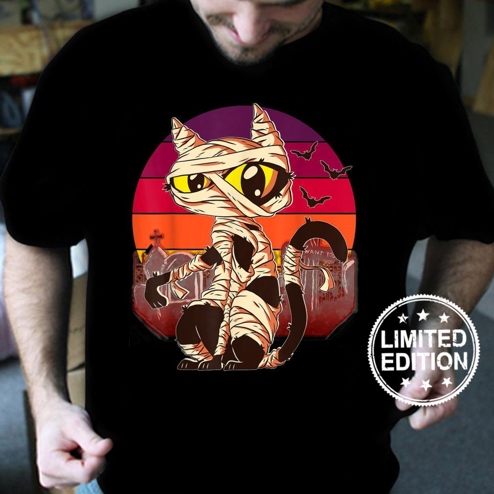 Mummy Cat Halloween Costume Fun Shirt