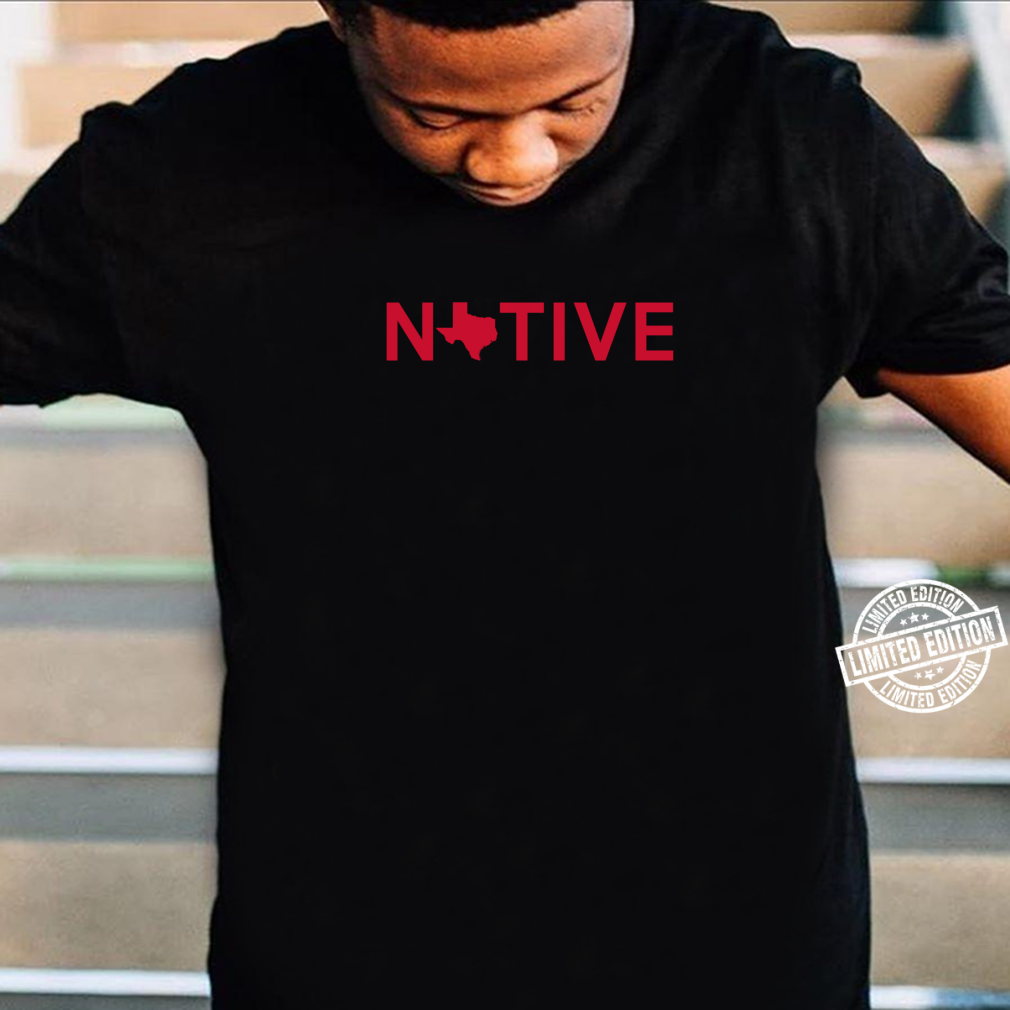 Native Texan Red Map and Letters Shirt