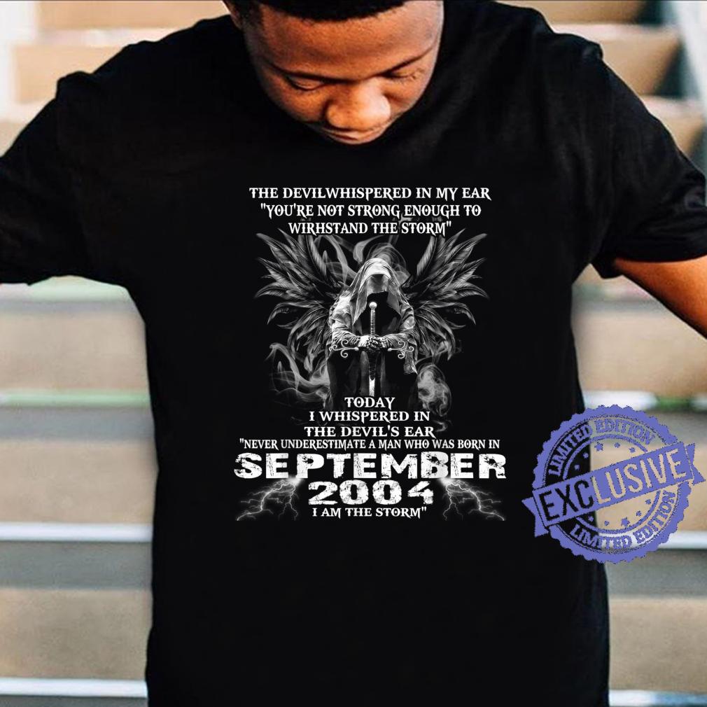 Never Underestimate A Man Born In September 2004 Shirt