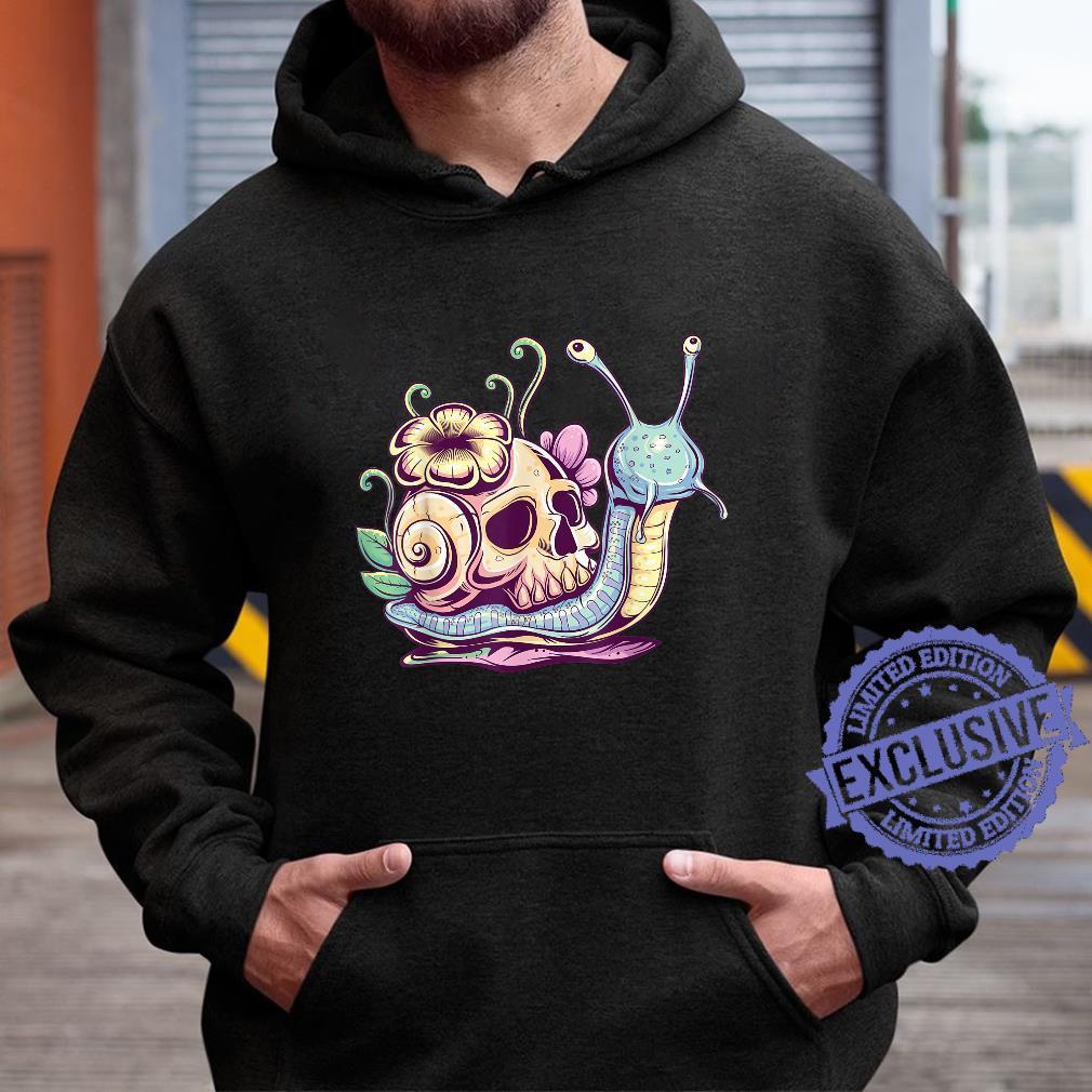 Pastel Goth Cute Creepy Snail Skull Kawaiihera Emo Egirl Shirt hoodie