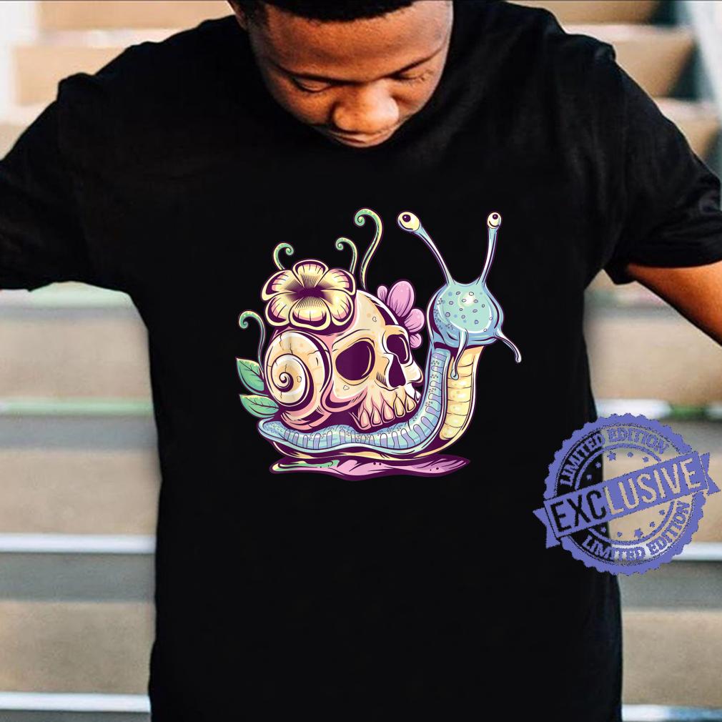 Pastel Goth Cute Creepy Snail Skull Kawaiihera Emo Egirl Shirt