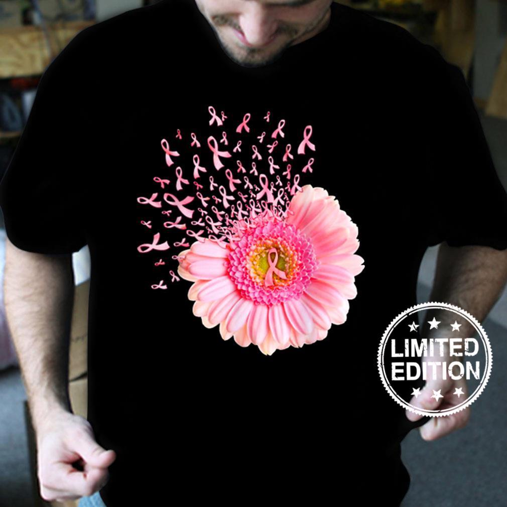 Pink Daisy Flower Breast Cancer Awareness Retro Vintage Shirt
