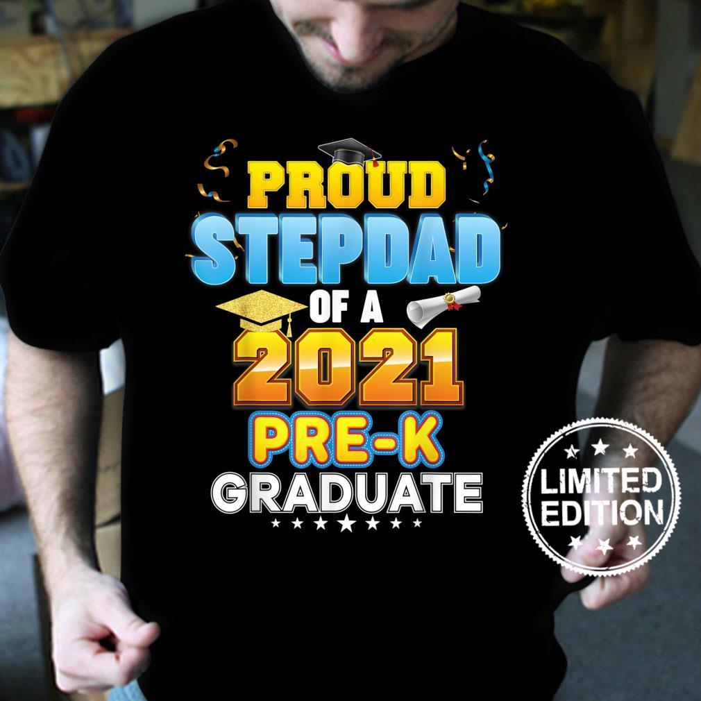 Proud Stepdad Of A 2021 PreK Graduate Last Day School Grad Shirt
