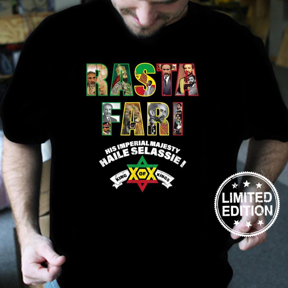 Rastafari Ras Tafari HIM Haile Selassie Shirt