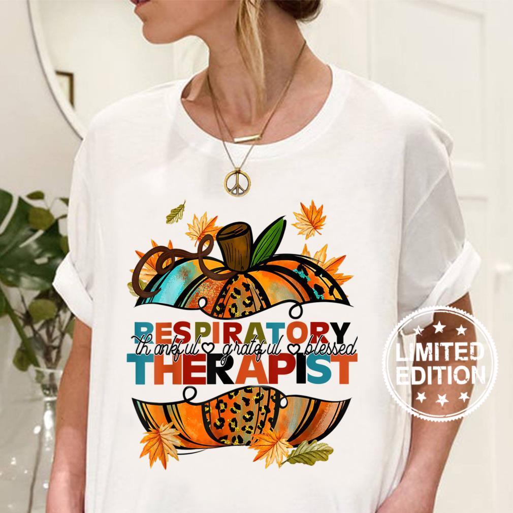 Respiratory Therapist RT Halloween Costume Skeleton Pumpkin Shirt