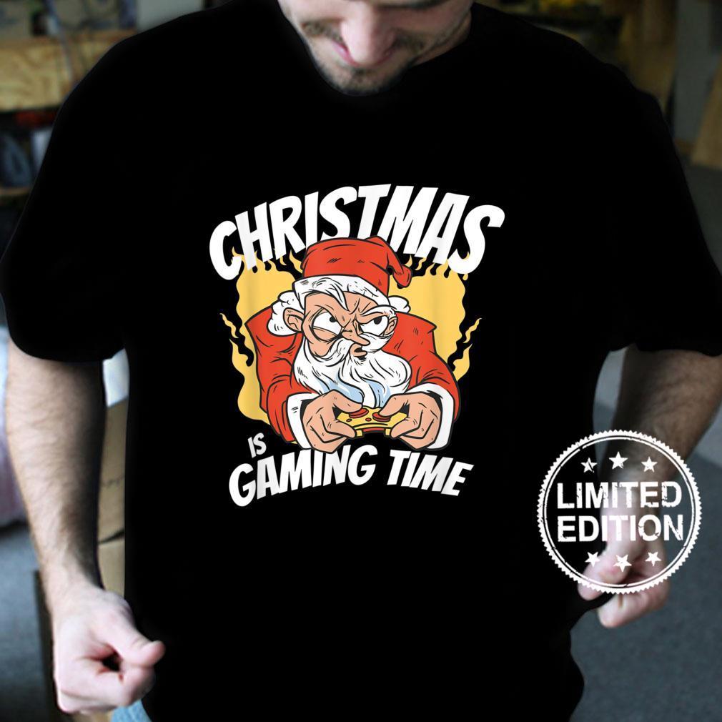 Santa Claus Playing Video Games Gaming and Gamers Shirt