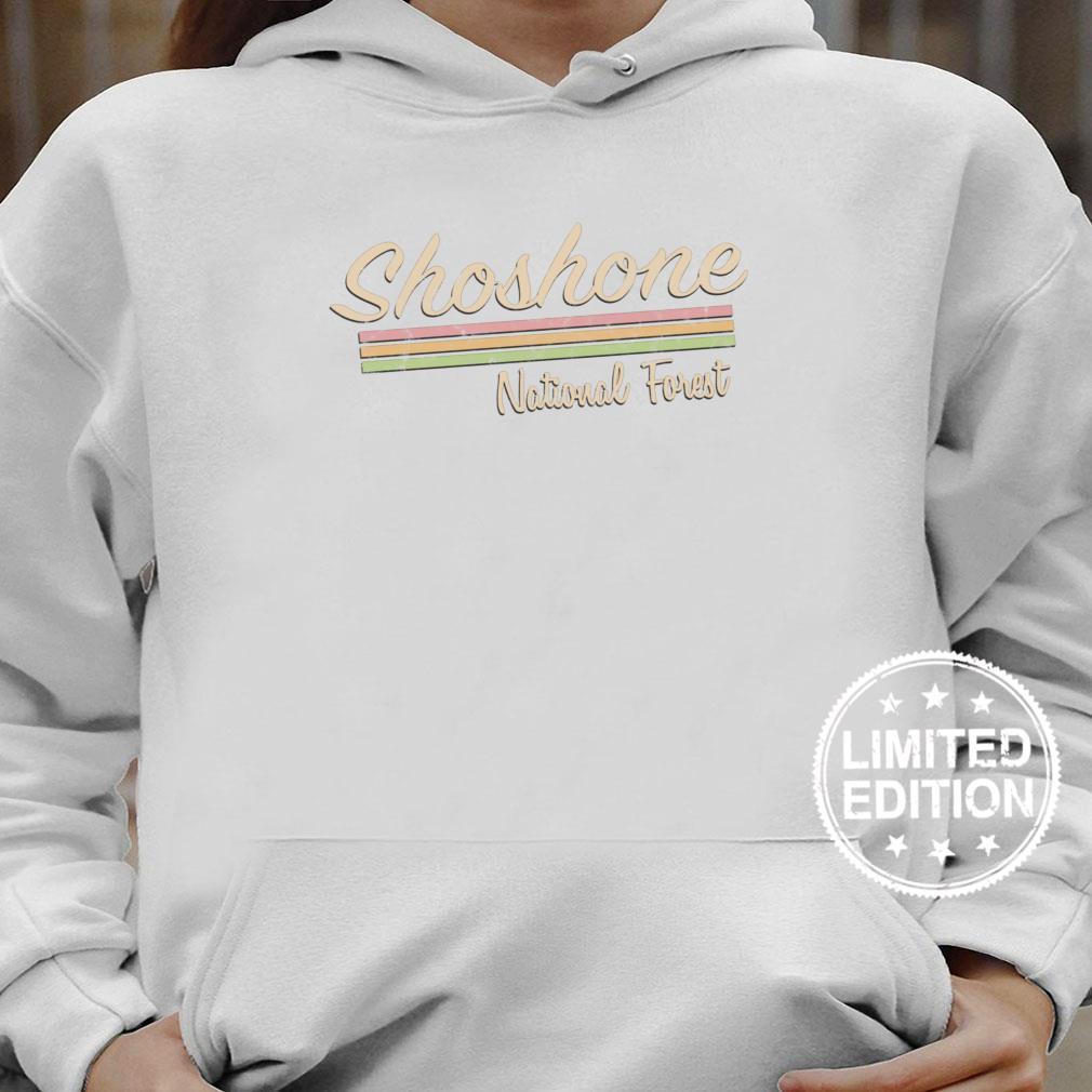Shoshone National Forest Retro Vintage Shirt hoodie