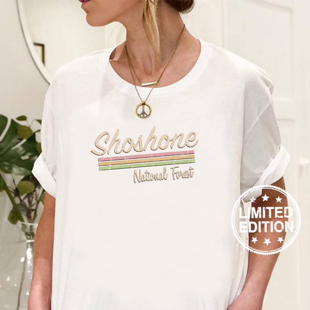 Shoshone National Forest Retro Vintage Shirt