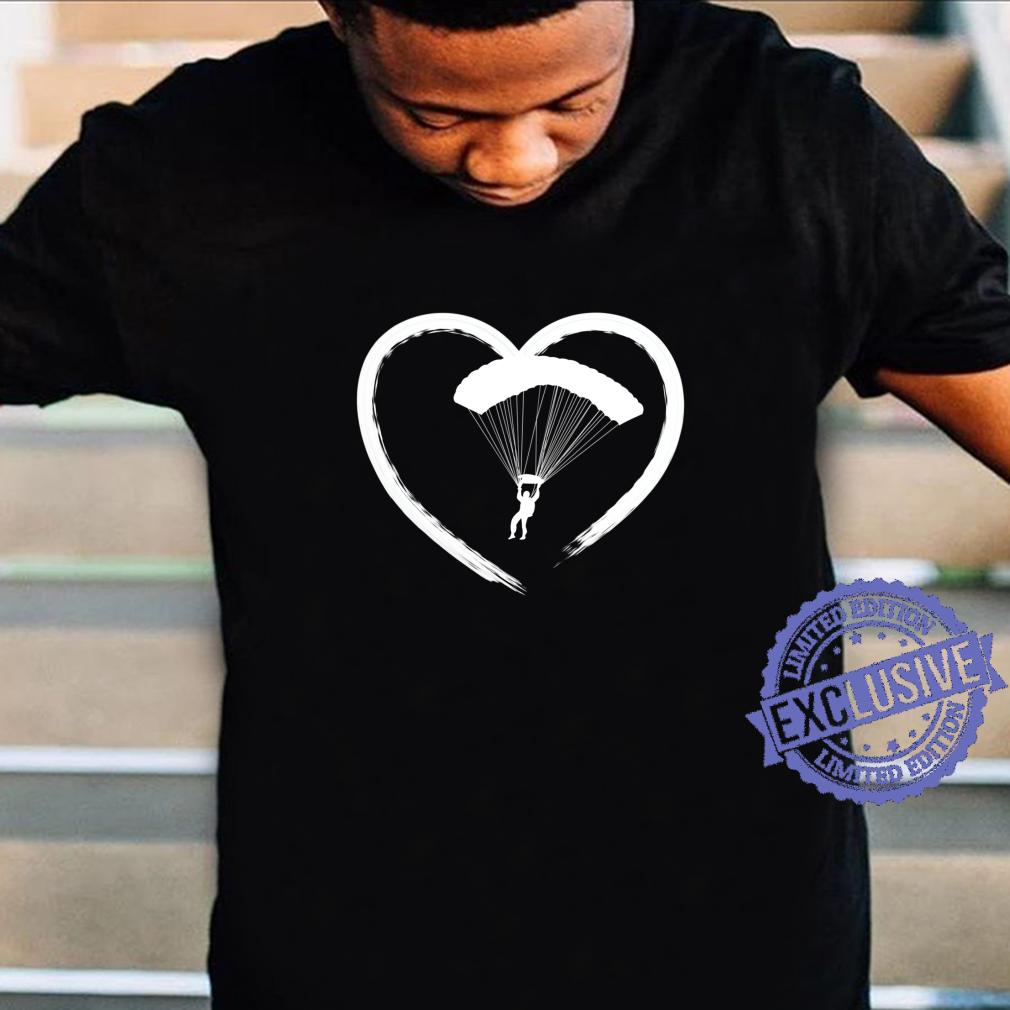 Skydiving Heart Skydiver Love Shirt