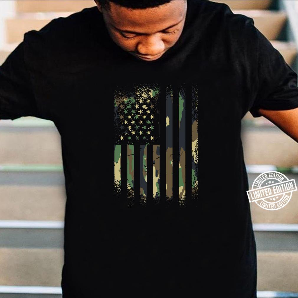 Tarnung Distressed American military Flagge Shirt