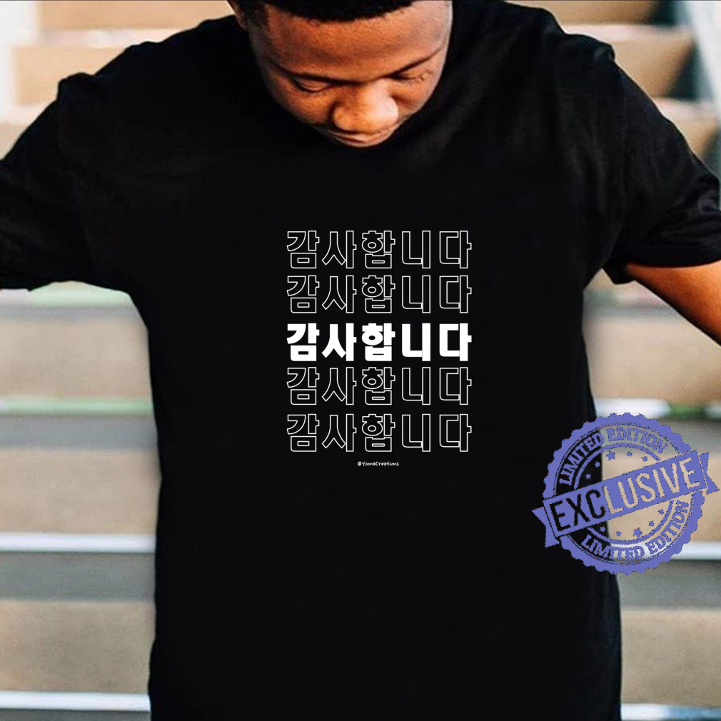 Thank you in Korean Hangul Korean Shirt