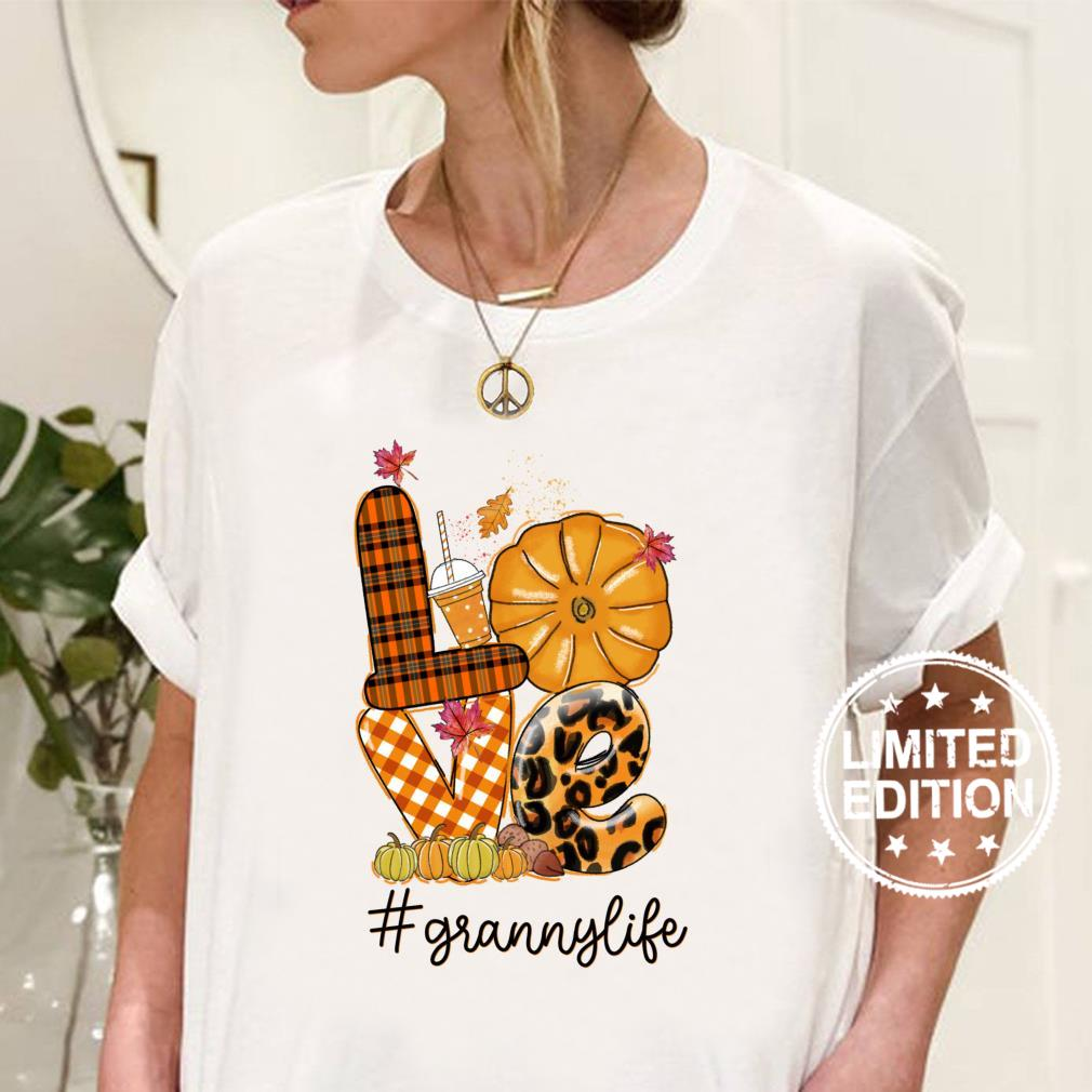 Thanksgiving Love granny Life Candy Leopard Fall Shirt