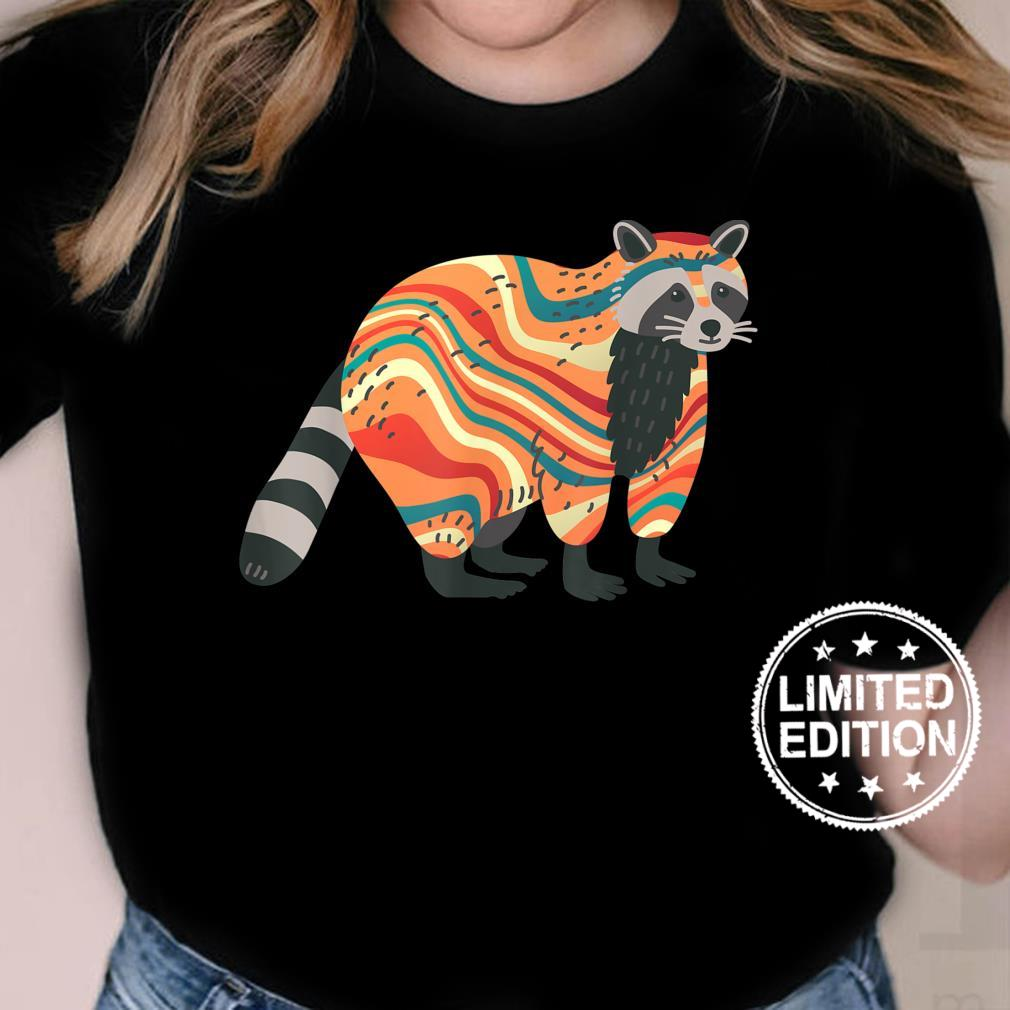 TieDye Psychedelic Raccoon Trash Panda Animal Shirt ladies tee