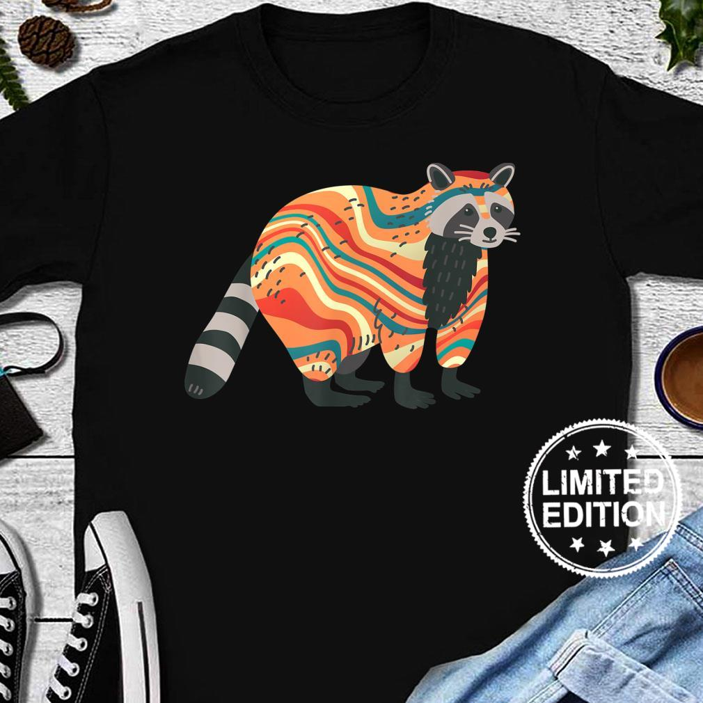 TieDye Psychedelic Raccoon Trash Panda Animal Shirt long sleeved