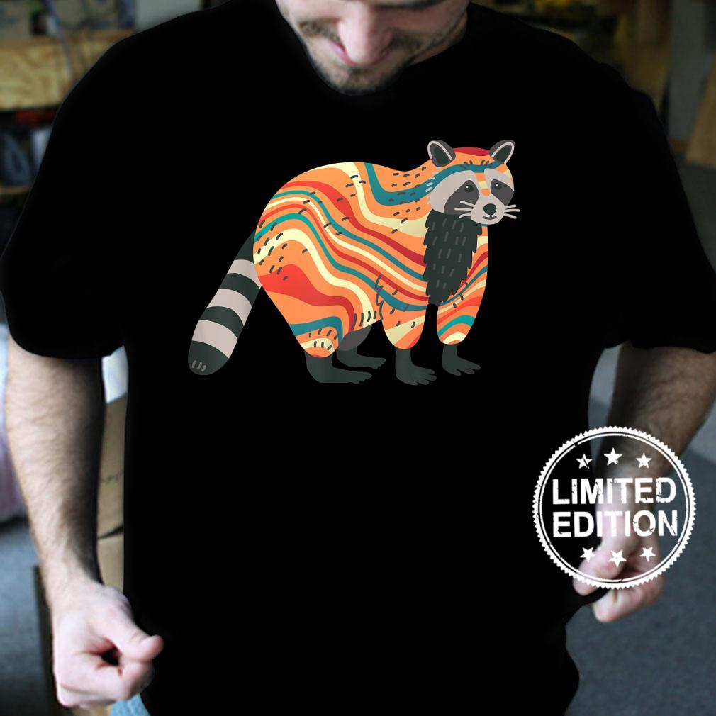 TieDye Psychedelic Raccoon Trash Panda Animal Shirt