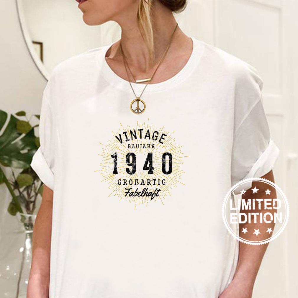 Vintage 1940 geboren 81 Geburtstag Raglan Shirt