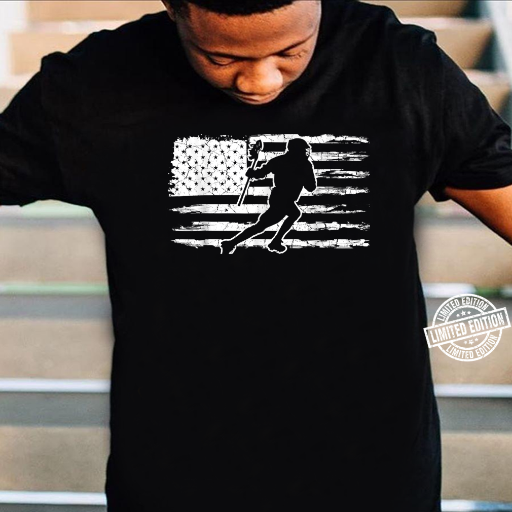 Vintage American Flag Lacrosse Shirt