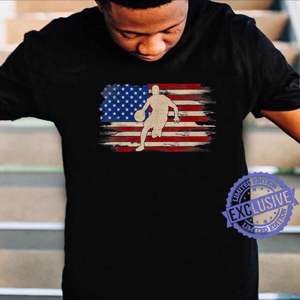 Vintage Basketball American Flag Player Sport Shirt