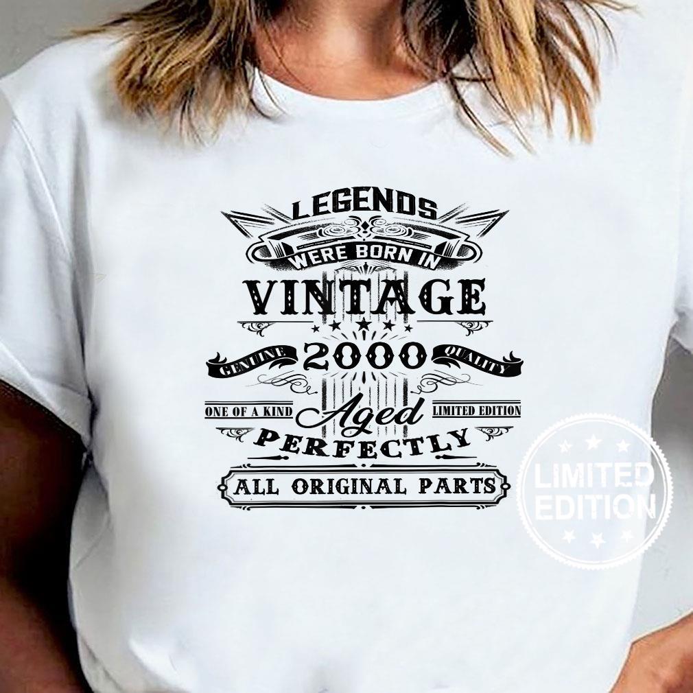Vintage Legend 2000 – Geschenk zum 20 Geburtstag Shirt ladies tee