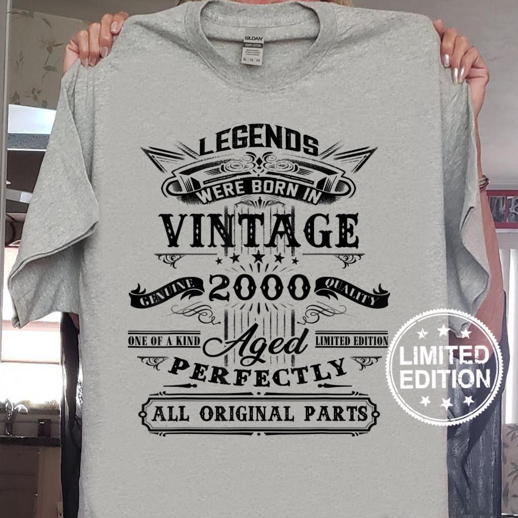 Vintage Legend 2000 – Geschenk zum 20 Geburtstag Shirt sweater
