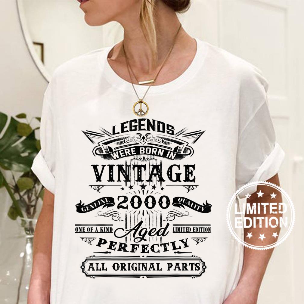 Vintage Legend 2000 – Geschenk zum 20 Geburtstag Shirt