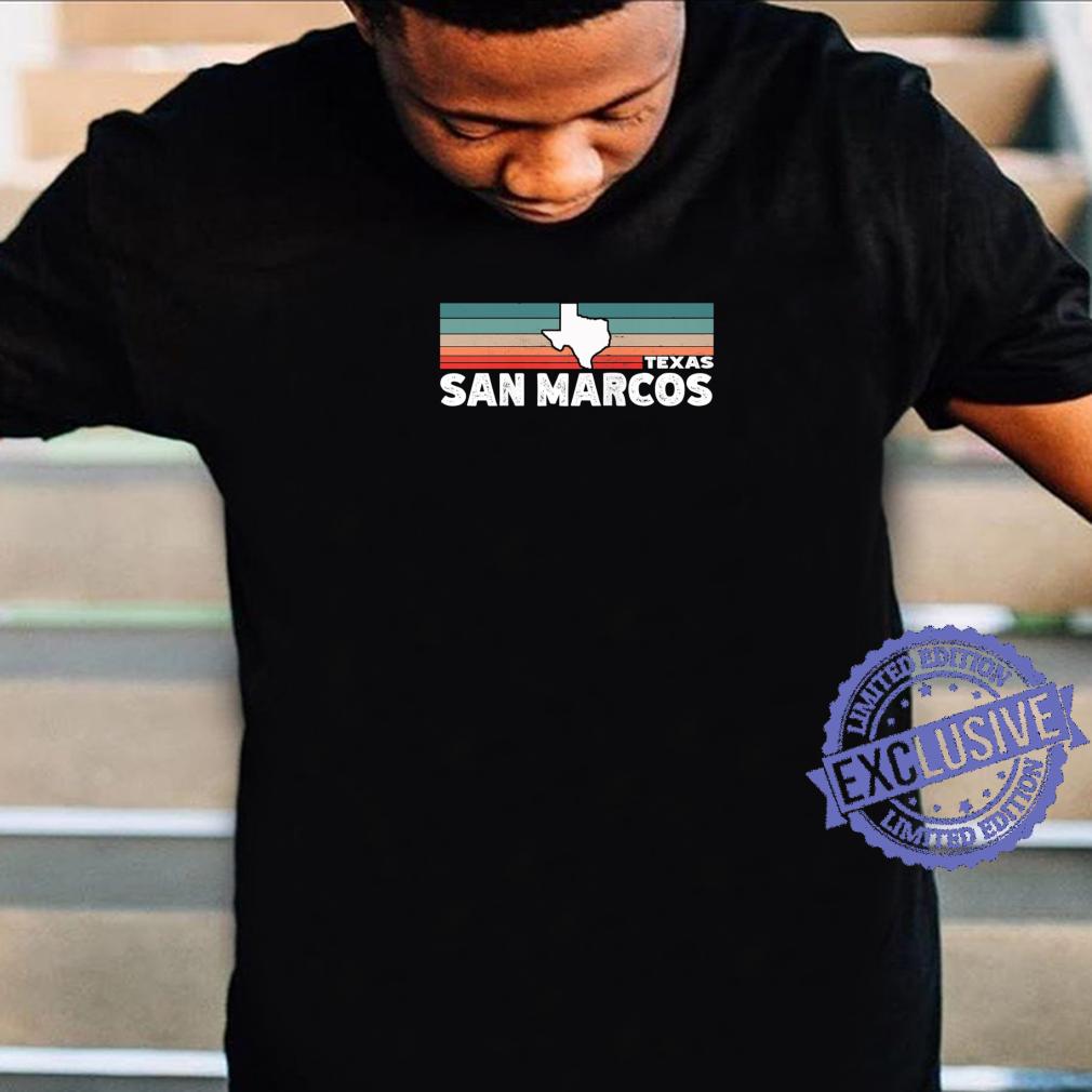 Vintage Retro San Marcos TX Tourist Native Texas State Shirt