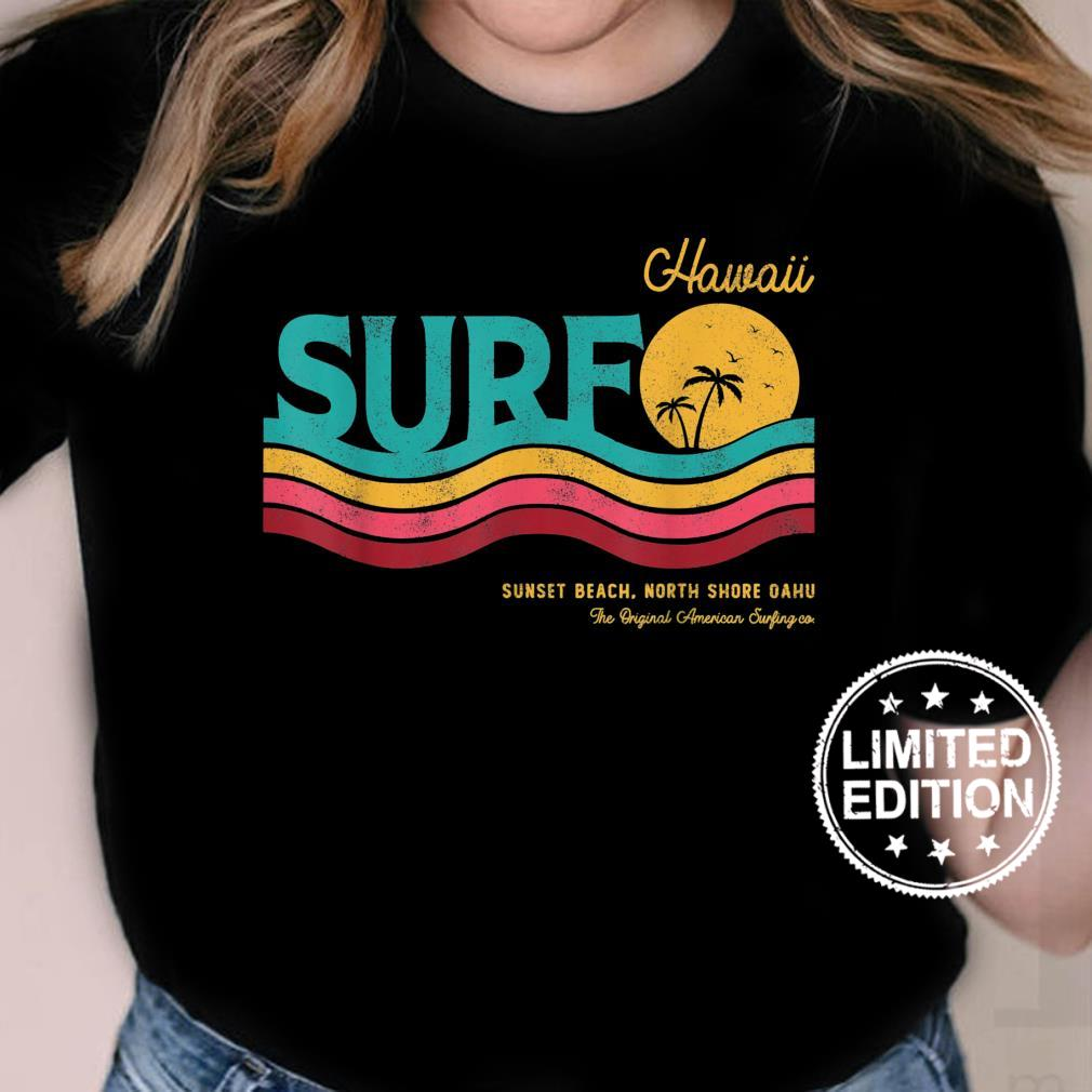 Vintage Retro Style SurfRider Surf Beach North Shore Hawaii Shirt ladies tee