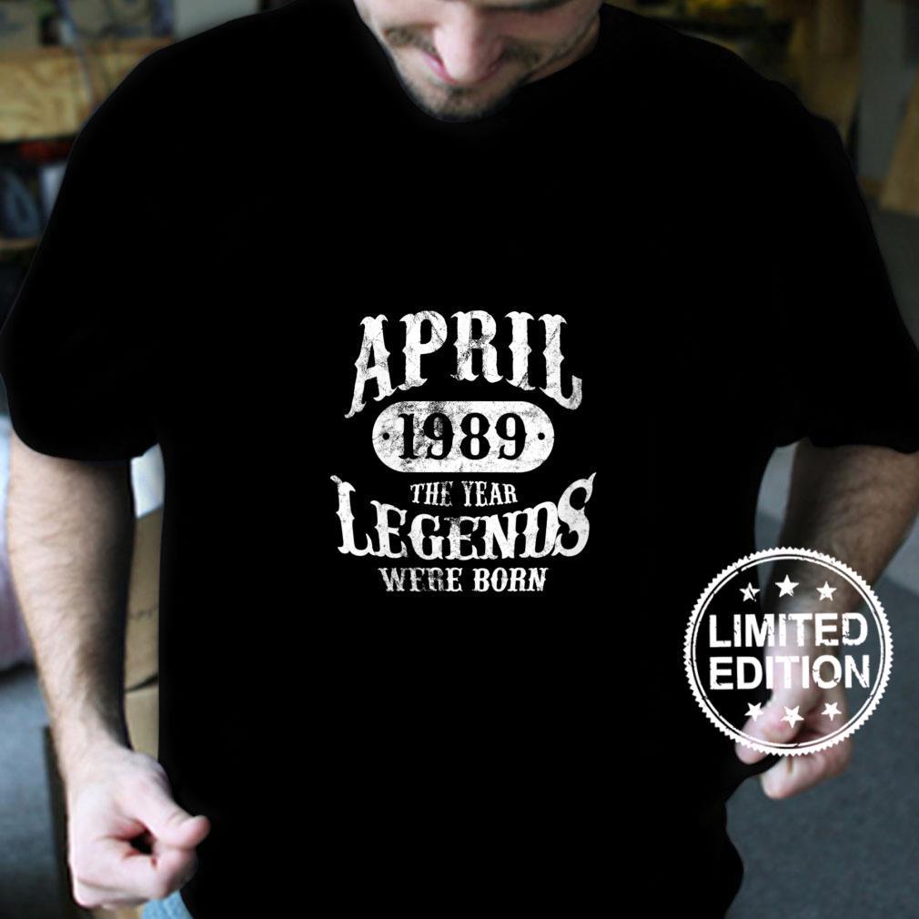 Womens April 1989 Vintage Legend 33rd Birthday Shirt