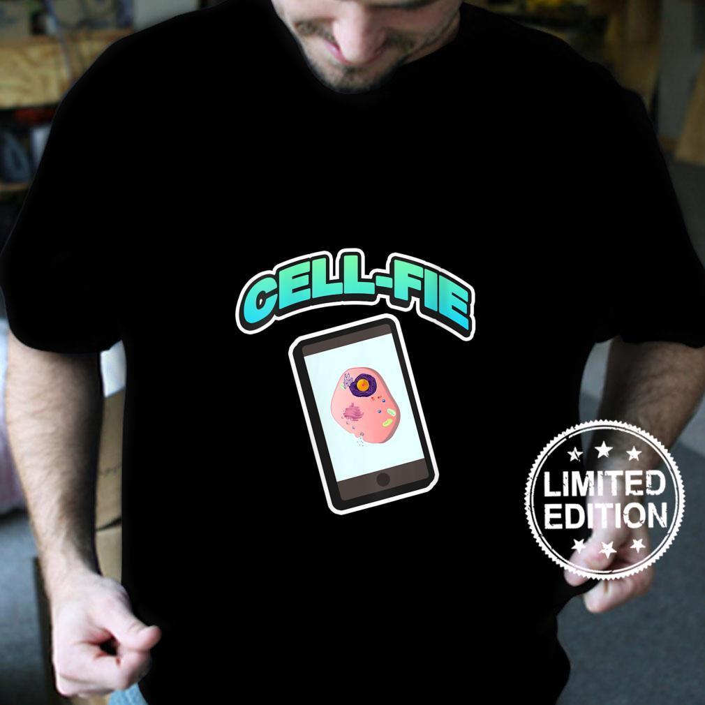 Womens CellFie Science Biology Teacher Appreciation Shirt
