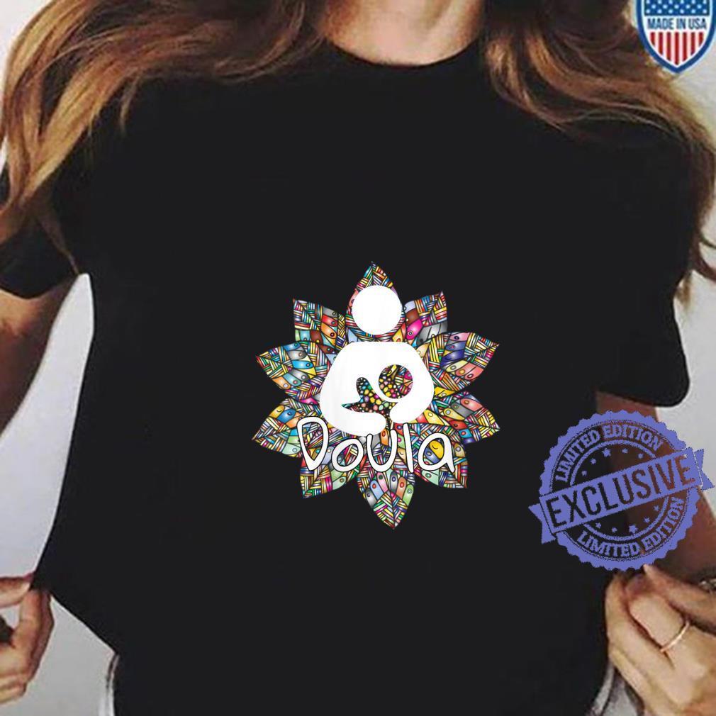 Womens Cute Doula Floral Accent Design idea for birth coaches Shirt ladies tee
