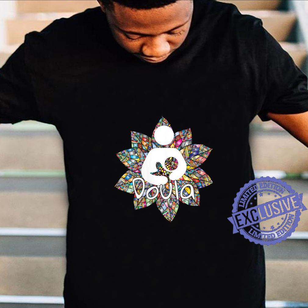 Womens Cute Doula Floral Accent Design idea for birth coaches Shirt