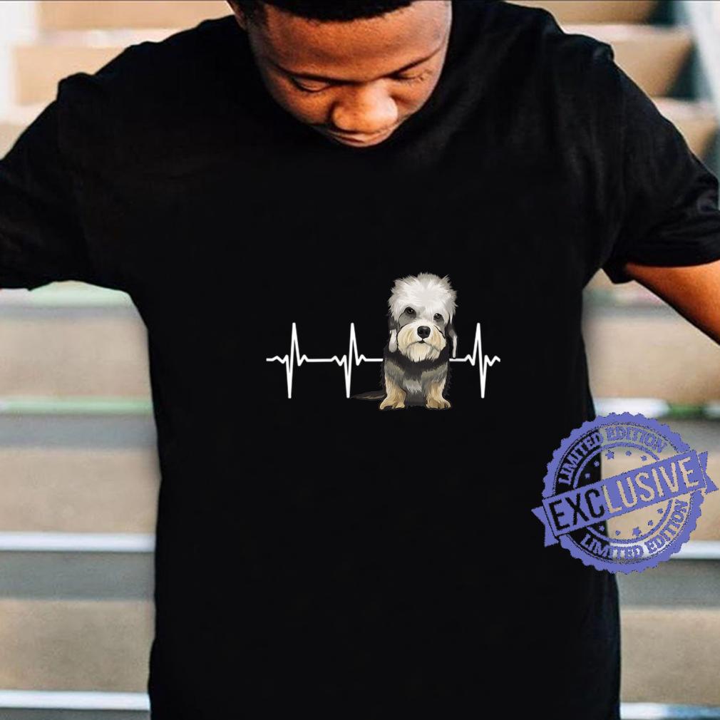 Womens Dandie Dinmont Terrier Heartbeat Dog Shirt