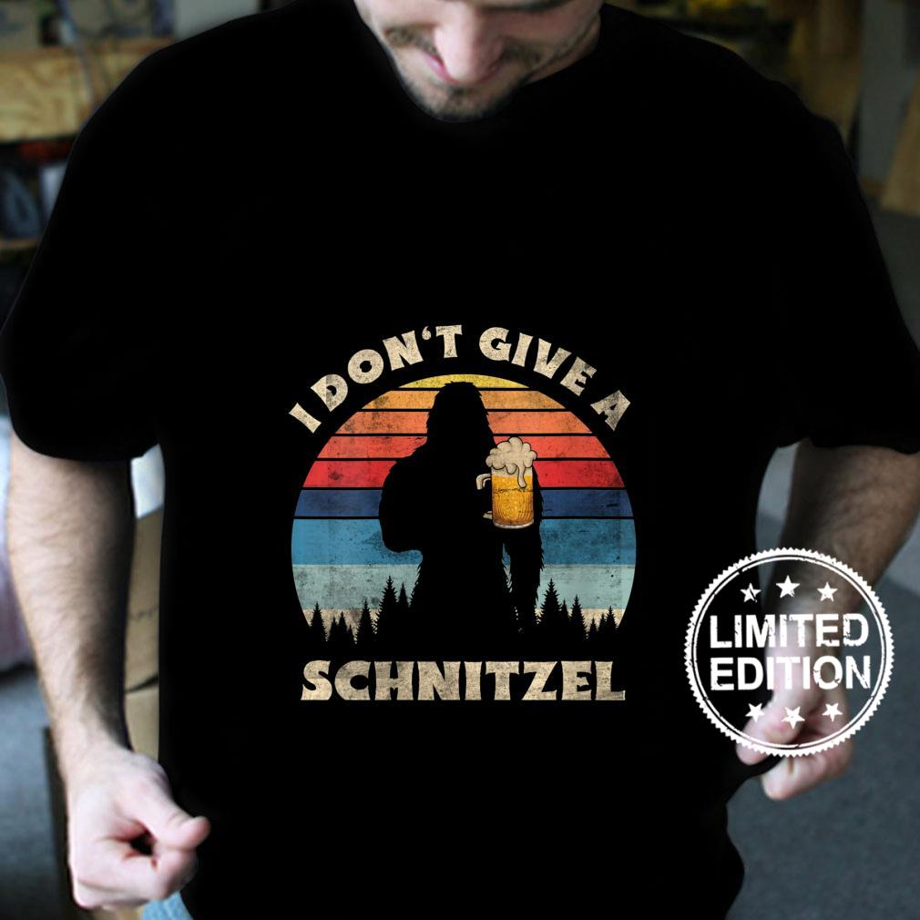 Womens I Don't Give a Schnitzel Germany Oktoberfest Distressed Shirt