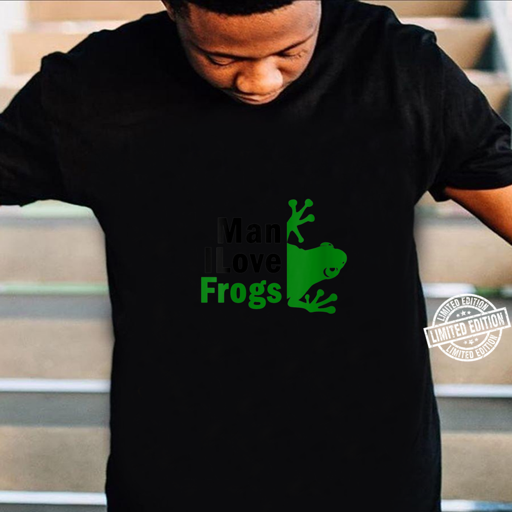 Womens MAN I LOVE FROG MILF Shirt